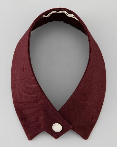 Single Snap Collar, Maroon