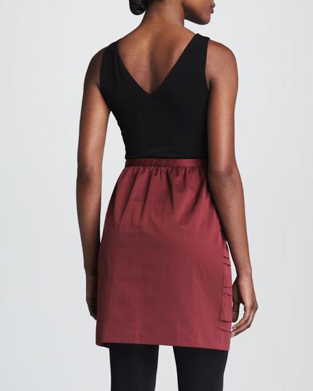 Bi-Color & Bi-Fabric Dress