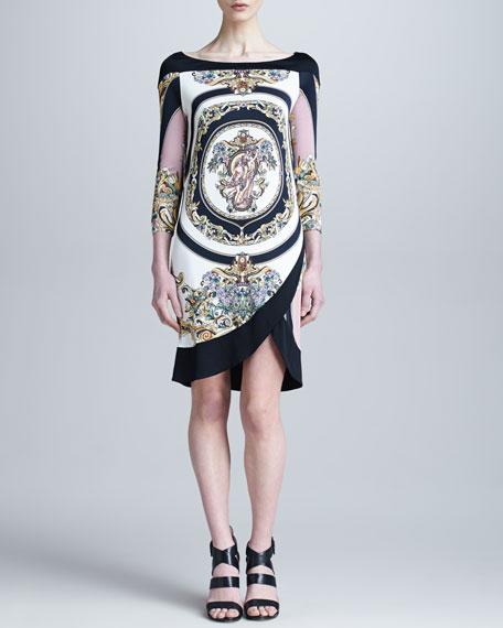 Medusa Printed Tulip-Hem Dress