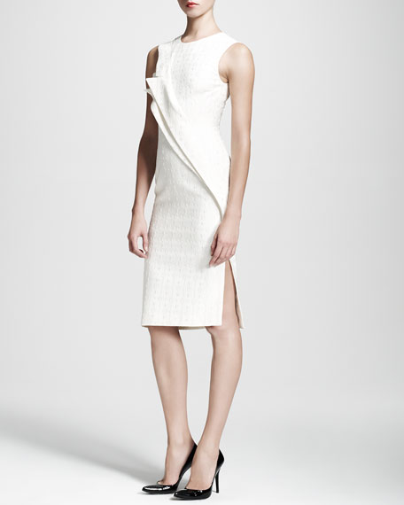 Double-Fold Jacquard Sheath Dress