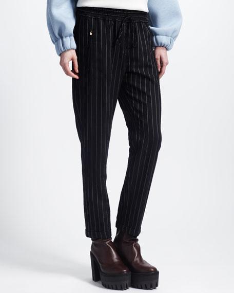 New Harem Elastic-Waist Cuffed Pants