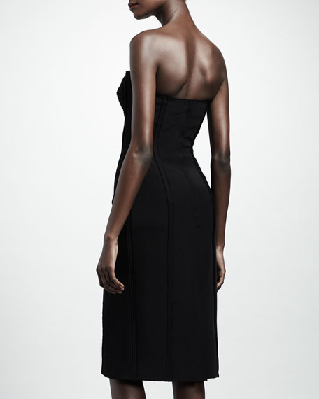 Strapless Bustier Dress, Black