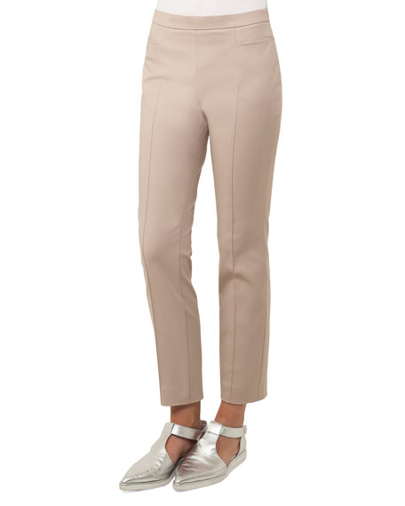 Franca Cropped Techno Pants, Navy