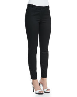Burberry Brit Skinny Trousers with Ankle Zip