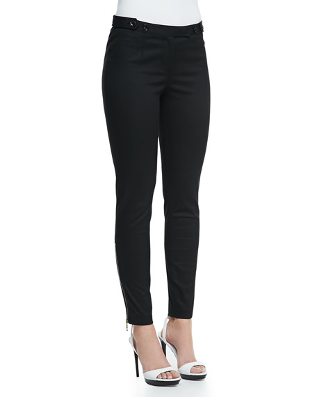 Skinny Trousers with Ankle Zip