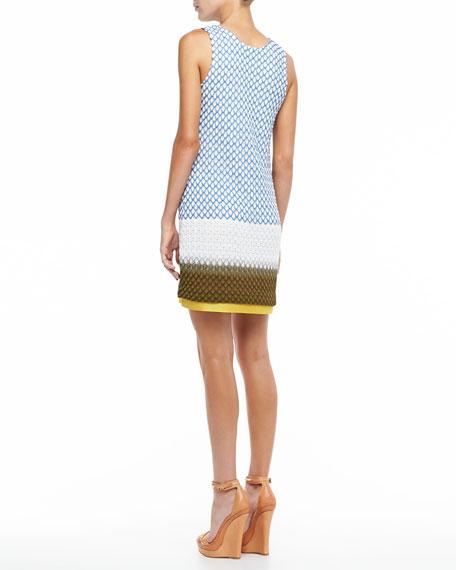 Colorblock Knit Cardigan & Dress Set