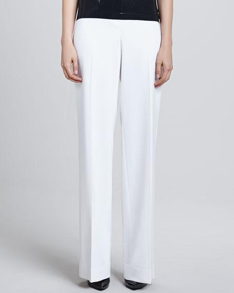 Diana Stretch Wide-Leg Pants, White