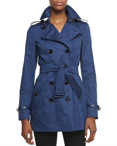 Long-Sleeve Double-Breasted Trench Jacket