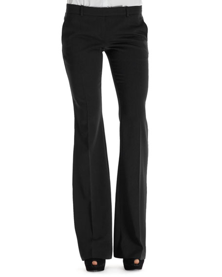 Flare-Leg Tab Pants