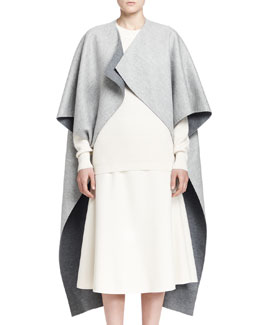 Noden Two-Tone Wool Cape