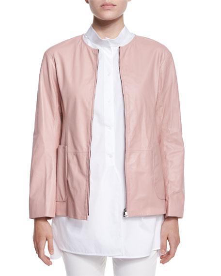 Jil Sander Reversible Nylon/Leather Jacket