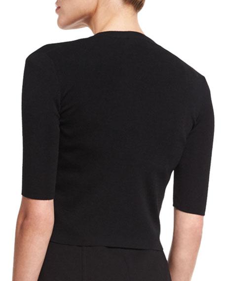 Half-Sleeve Short Cardigan