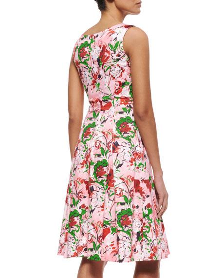 Carolina Herrera Bouquet-Print A-Line Tank Dress
