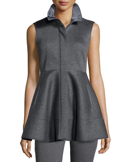 Donna Karan Zip-Front Peplum Jacket