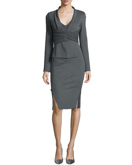 Donna Karan Draped Crisscross Knit Jacket