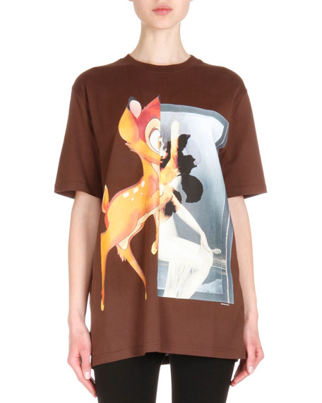 Bambi-Print Short-Sleeve T-Shirt