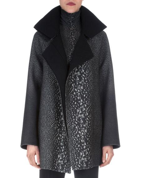 Akris Way-Print Raglan-Sleeve Coat