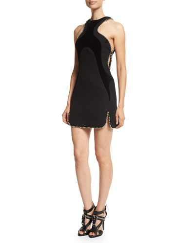 Racer-Front Dress with Chain Detail