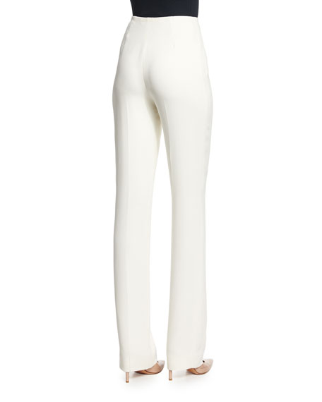 Image 2 of 2: Ralph Lauren Collection Alandra Straight-Leg Pants, Cream