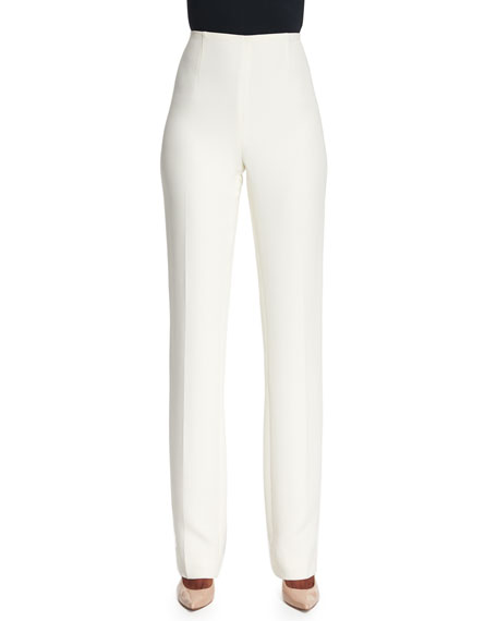 Image 1 of 2: Ralph Lauren Collection Alandra Straight-Leg Pants, Cream