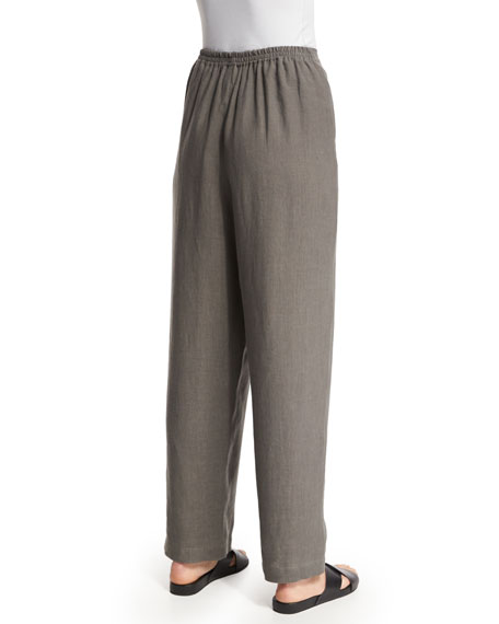 Nobu Drawstring Linen Trousers, Elephant