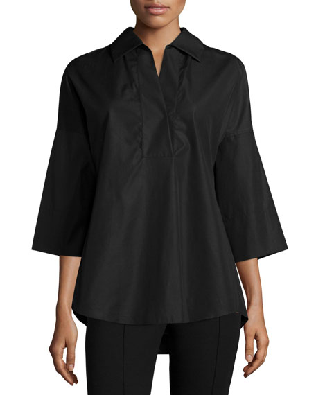 Akris punto Elements Kimono-Sleeve Blouse & Wide-Leg Pants