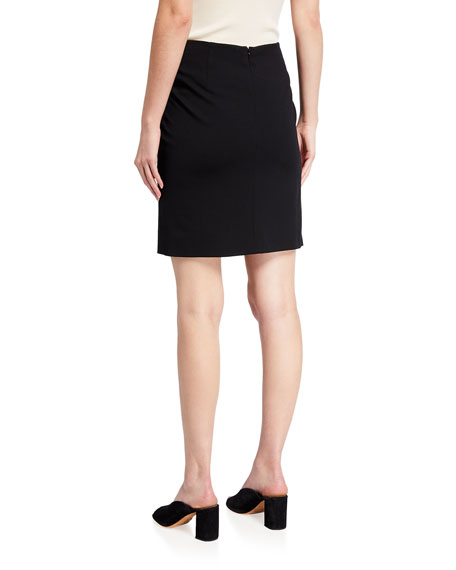 Short Stretch-Jersey Skirt, Black
