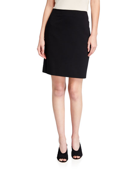 Akris punto Short Stretch-Jersey Skirt, Black