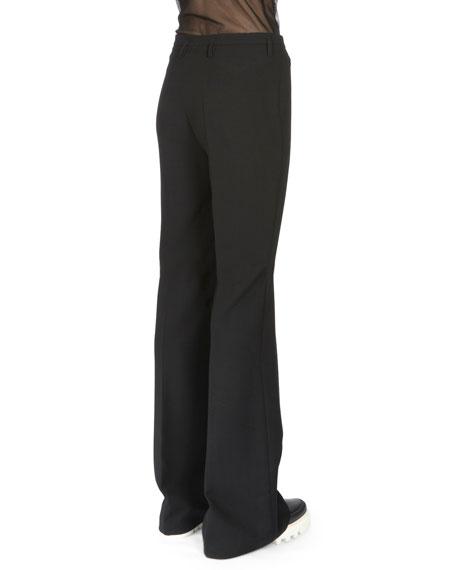 Flare-Leg Mid-Rise Pants