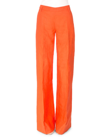 Altuzarra High-Waist Wide-Leg Pants, Sunset
