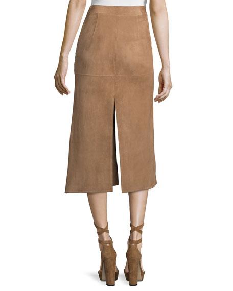 Mid-Rise Skirt W/Side Slit, Phard Brown