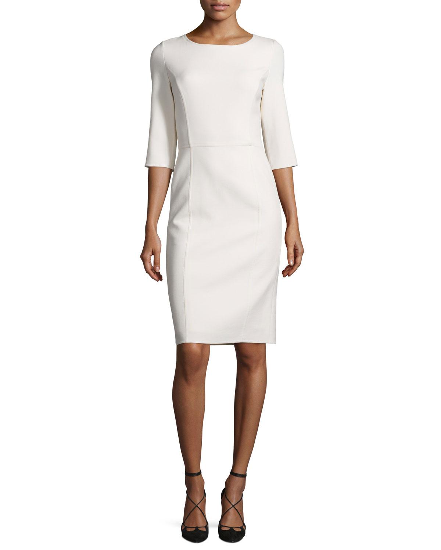 Long Sleeve Sheath Dress Carolina Herrera Sale Buy Cheap Looking For eRI9HOuCb