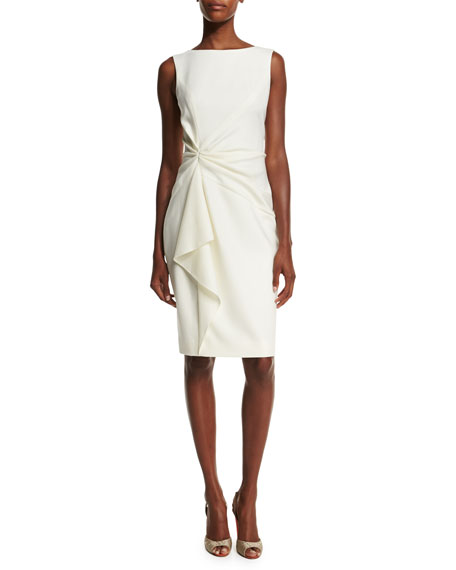 Carolina Herrera Sleeveless Ruffle-Front Sheath Dress