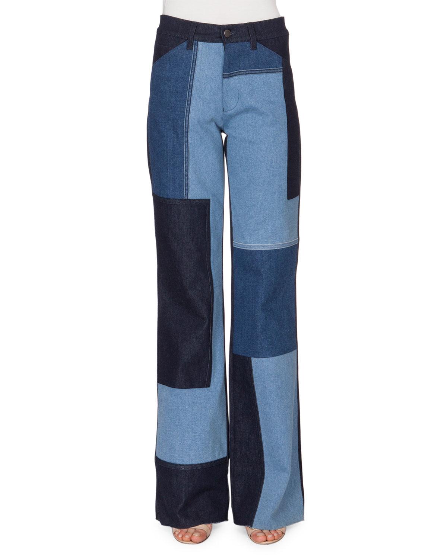 Victoria, Femme Victoria Beckham Fanée Mi-hauteur Pantalon Slim-jambe Denim Foncé Taille 25 Beckham Victoria