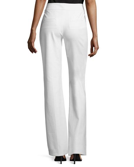 Sam Flare-Leg Twill Pants, White