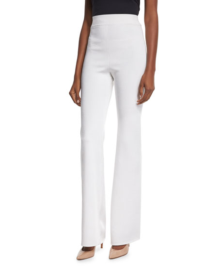 Cushnie et Ochs High-Waist Wide-Leg Pants, Soft White