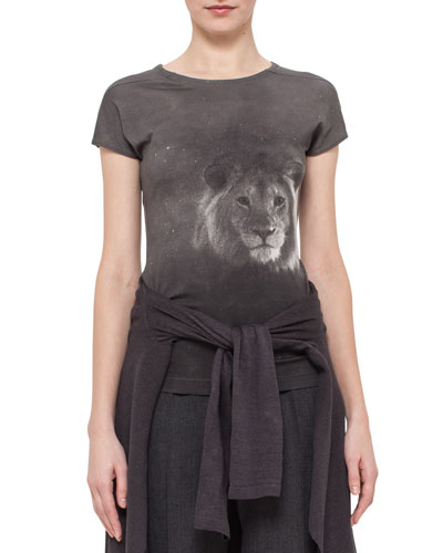 Lion-Head Short-Sleeve T-Shirt, Elephant