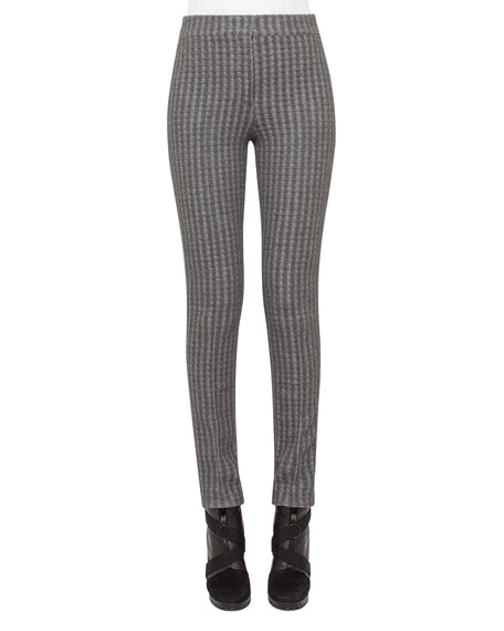 Mara Houndstooth Quilted Leggings, Cliff