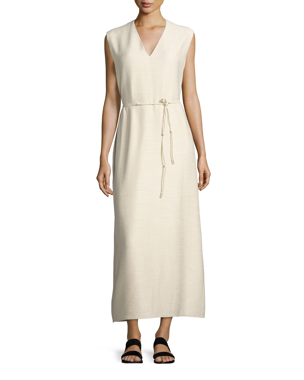 8111a3035a1 THE ROW Langrova Sleeveless Belted Maxi Dress