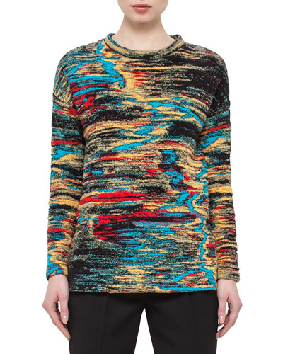 Jacquard Side-Vent Sweatshirt, Northern Lights