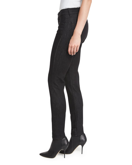 400 Matchstick Mid-Rise Jeans, Black Rinse