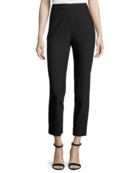 St. John Collection Alexa Scuba Slim Cropped Pants,