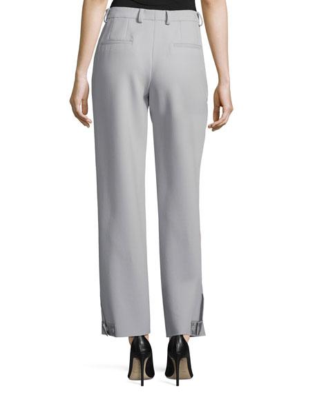 Pleat-Front Straight-Leg Pants