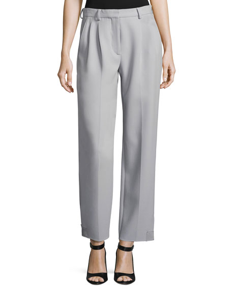 Giorgio Armani Pleat-Front Straight-Leg Pants