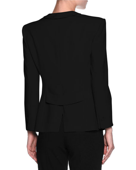 Double-Pocket One-Button Jacket, Black Compare Price