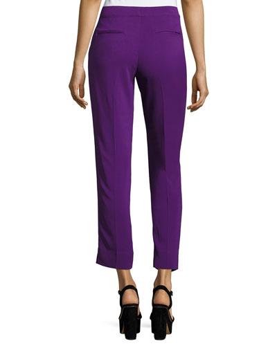 ETRO Pants FLAT-FRONT CADY CAPRI PANTS, PURPLE