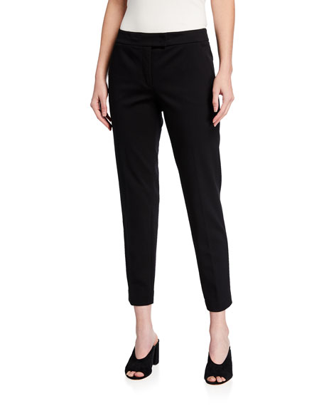 Frankie Slim-Leg Ankle Pants, Black