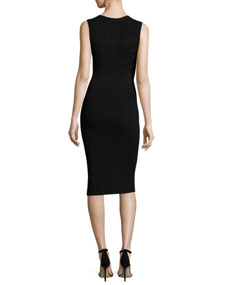 Sleeveless Round-Neck Ribbed Dress