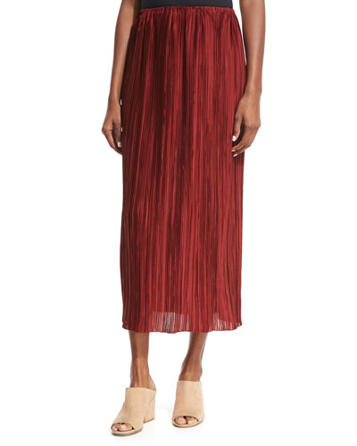 the row juri pleated silk midi skirt cheap