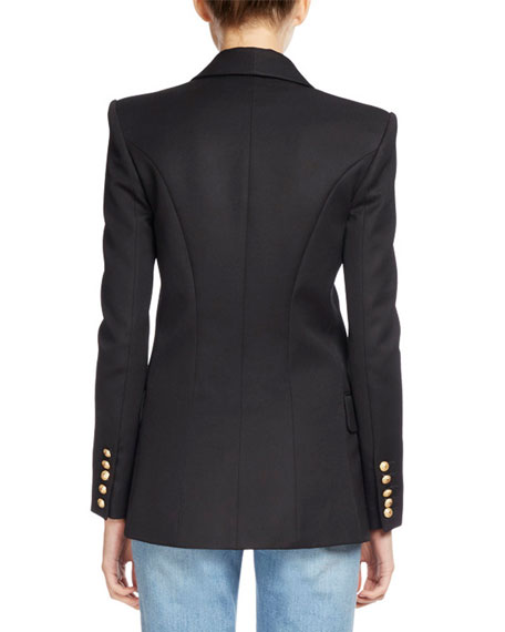 Classic Double-Breasted Long Blazer Best Reviews